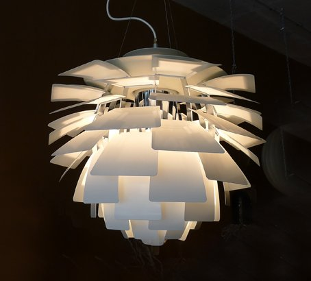Danish artichoke light collectika vintage and retro for Famous scandinavian furniture designers