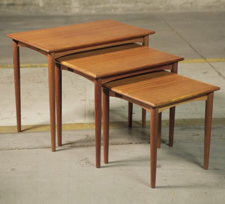 Parker vintage furniture   Nest of tables. Retro and Vintage Furniture stores in Sydney and Australia
