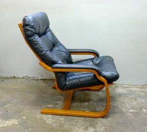 leather and ply easy chair 2