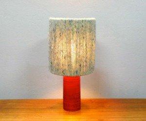 Vintage Bitossi Red Ceramic Bedside or Tablelamp.