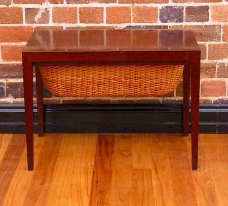 Danish knitting side table collectika vintage and for Table knitting