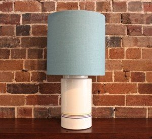 Striped Italian Ceramic Lamp