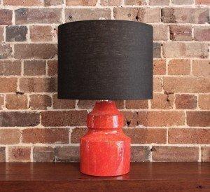 "Vintage Italian Ceramic ""Lava"" Lamp"