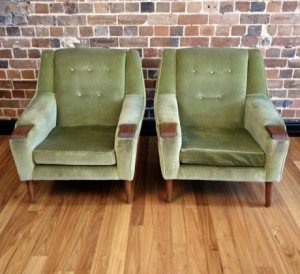 Vintage Pair Of Lounge Chairs