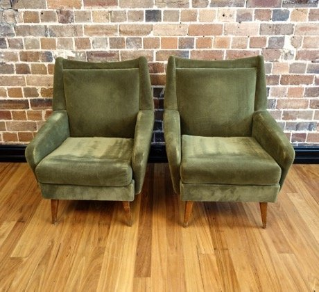 Vintage Armchairs Green Velvet 1 U2013 Collectika Vintage And Retro Furniture  Shop