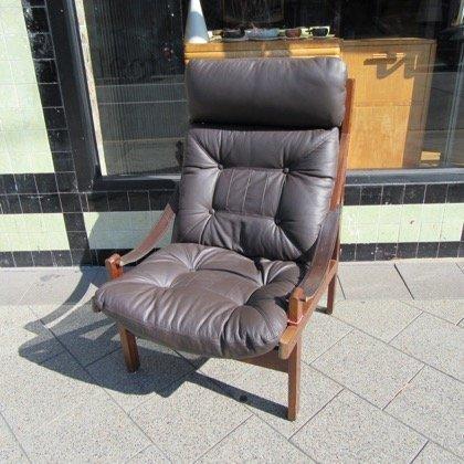 Sam Larsson Leather Highback Armchair