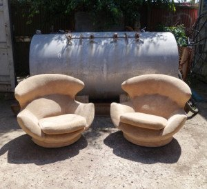 Pair of Space Age Lounge Chairs