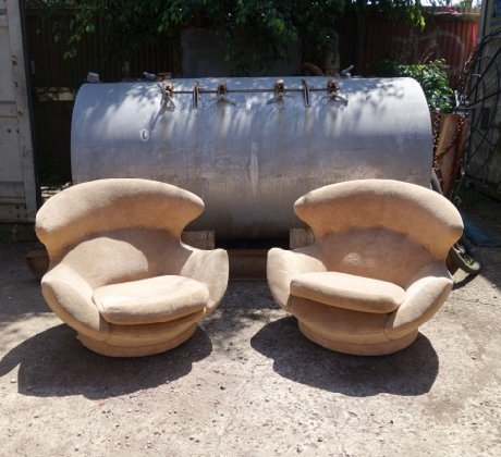 Pair Of Space Age Lounge Chairs Collectika Vintage And