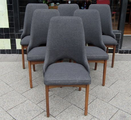 vintage grey dining chairs 1