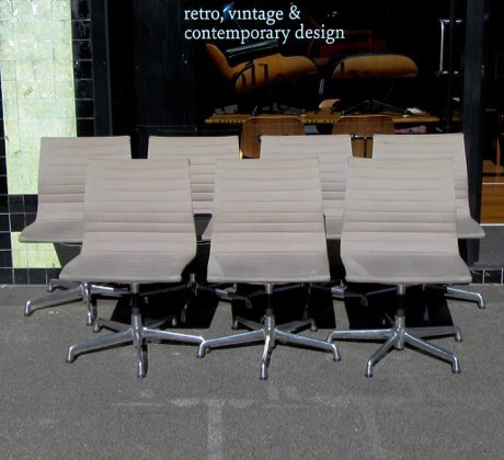 Eames Aluminium Group Chairs Collectika Vintage And