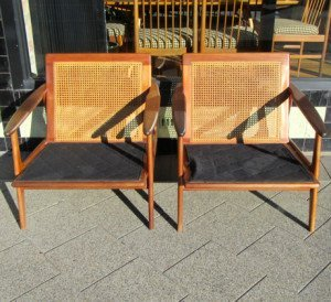 parker rattan back armchairs 1