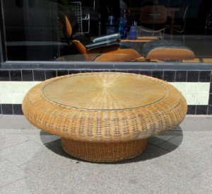 round cane coffee table 1