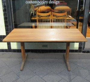 danish oak dining table 2