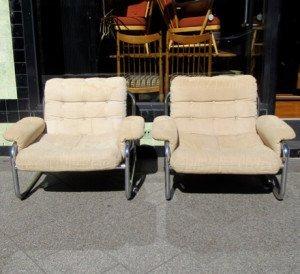 italian chrome armchairs 1