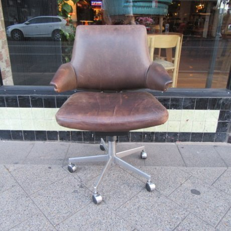 Danish Leather Office Chair Collectika Vintage And Retro