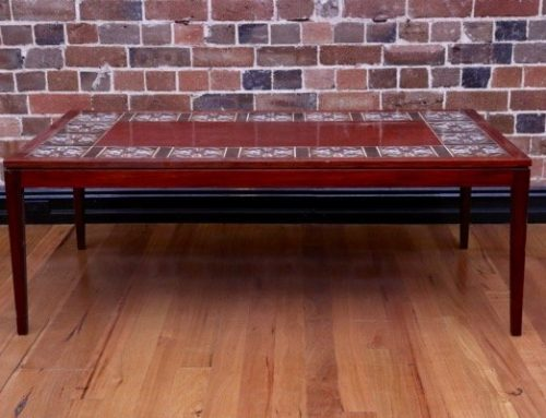 Danish Tile Top Rosewood Coffee Table