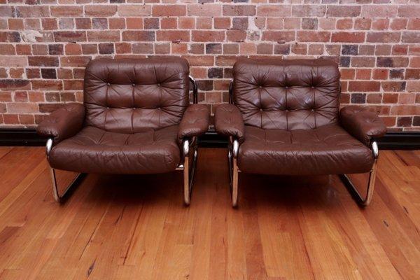 Leather Chrome Armchairs For Habitat Uk Collectika