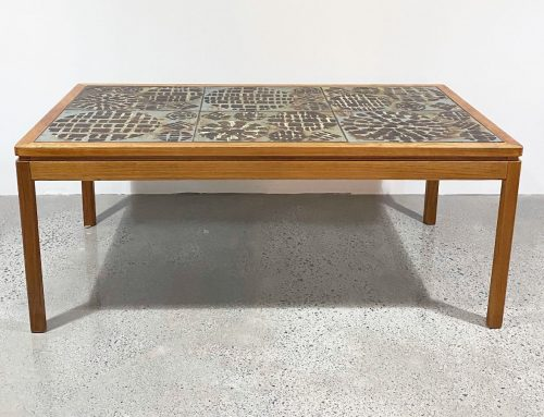Danish tiled top coffee table