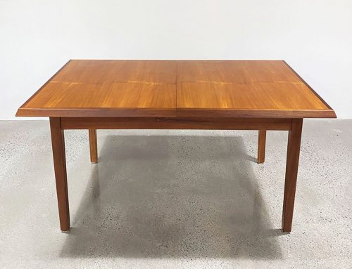 Vintage teak extendable dining table