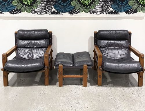 Nore Furniture armchairs and ottoman
