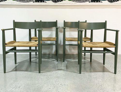 Hans Wegner CH37 dining chairs
